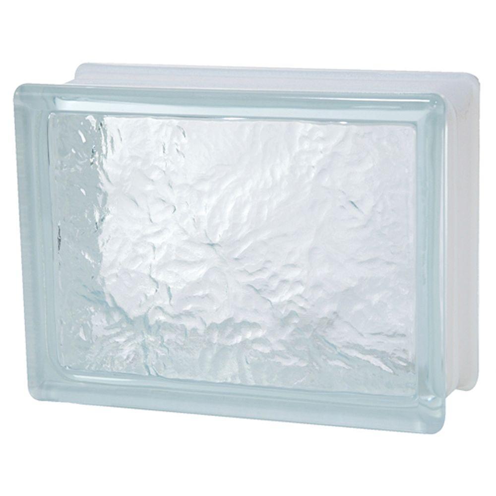 TAFCO WINDOWS 8 in. x 6 in. x 3-1/8 in. Ice Pattern Glass Block 8/CA