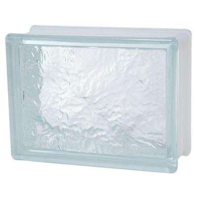 8 in. x 6 in. x 3-1/8 in. Ice Pattern Glass Block 8/CA