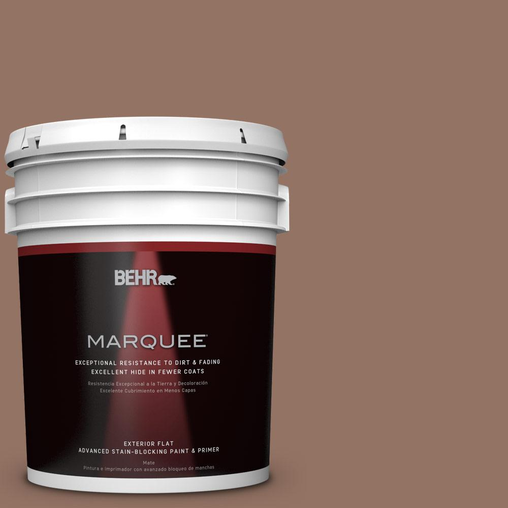 5-gal. #BXC-84 Corral Brown Flat Exterior Paint