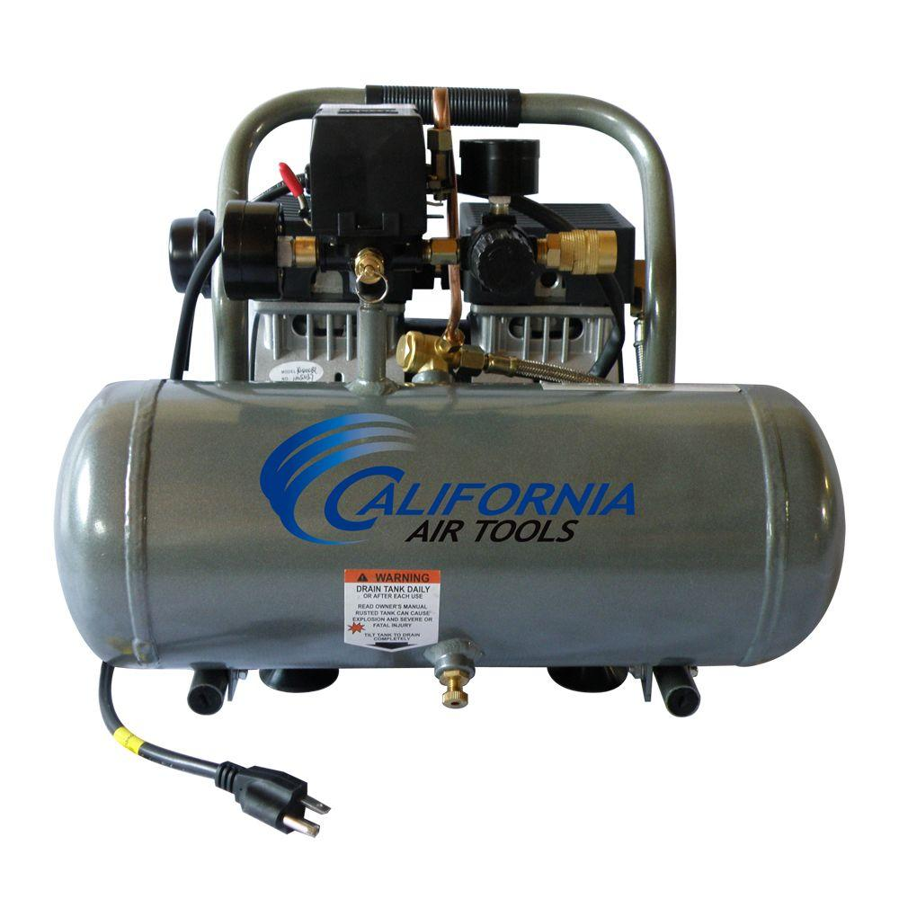 California Air Tools 1.6 Gal. 3/4 HP Ultra Quiet and Oil-Free Aluminum Tank Air Compressor