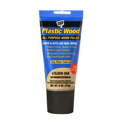 Plastic Wood 6 oz. Gold Oak Latex Woodfiller (6-Pack)