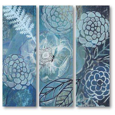 """Bouquet Blues II"" 3-Piece Canvas Printed Wall Art Set"
