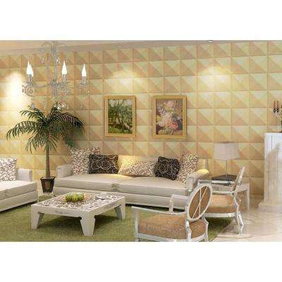 19.6 in. x 19.6 in. Self-Stick Star Pattern 3D Decorative Wall Tile in White (10-Pack)