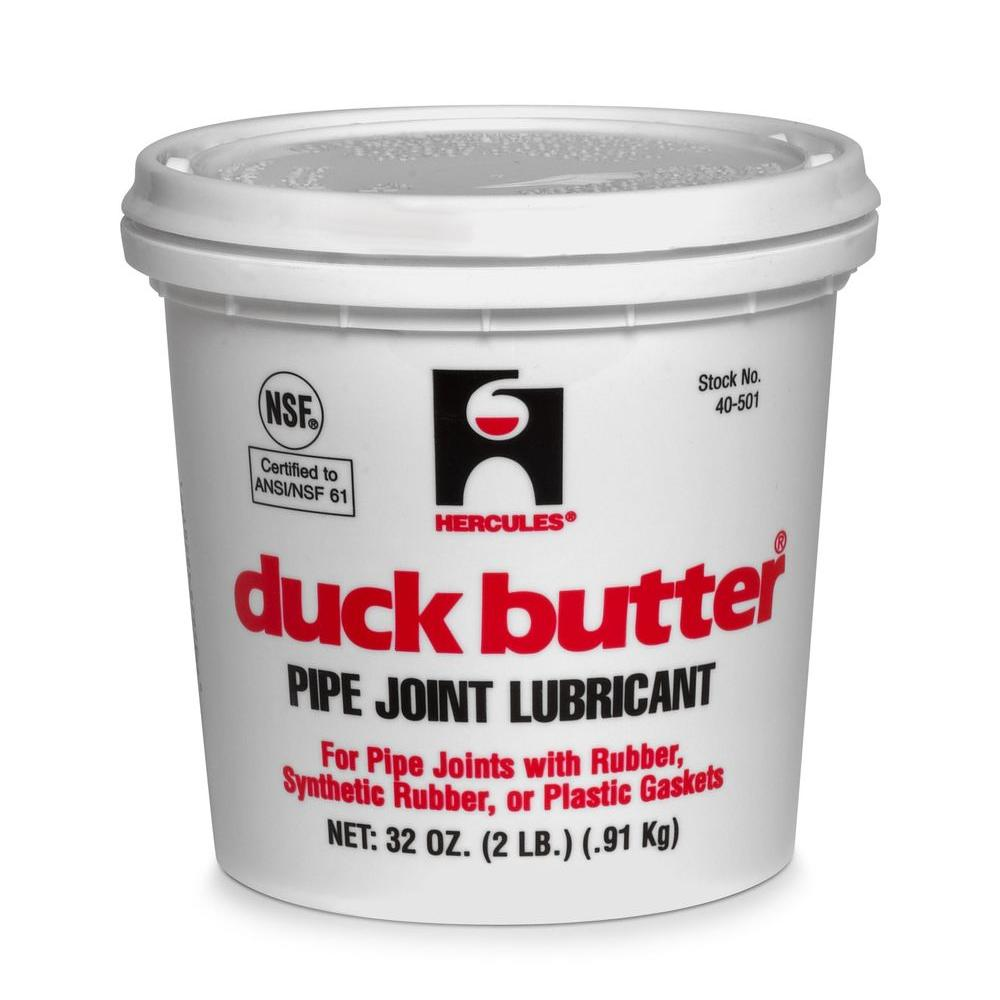 Hercules Duck Butter 2 lb. Pipe Joint Lubricant-40501 - The Home Depot
