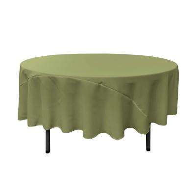 90 in. Round Dark Sage Polyester Poplin Tablecloth