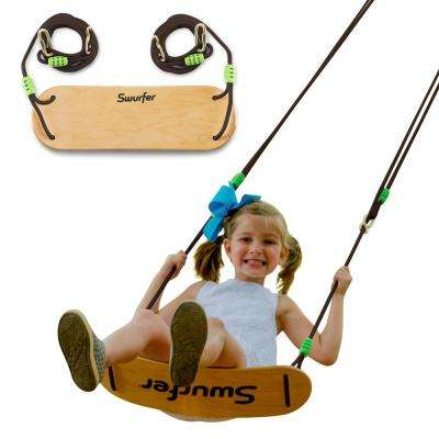 Sway Wood Tree Swing with Rope