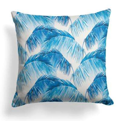 Tahitian Navy Square Outdoor Throw Pillow