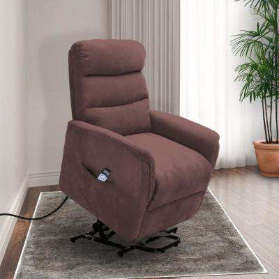 Calla Casa Ultra Comfort Fitness Lift Chair with Heat, Massage and Remote in Brown Mocha Microfiber