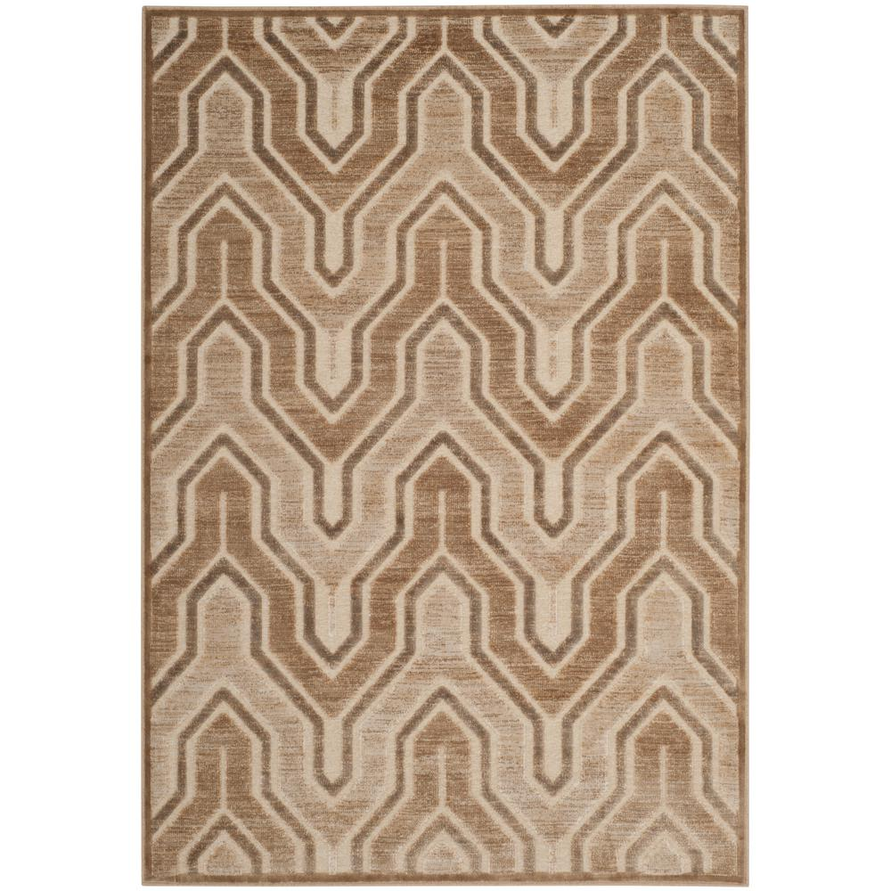 Paradise Caramel/Cream 4 ft. x 5 ft. 7 in. Area Rug