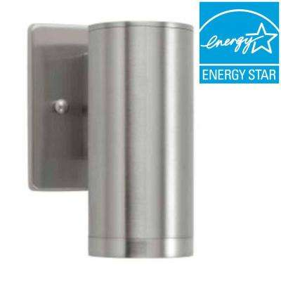 Brushed Nickel Outdoor LED Sconce