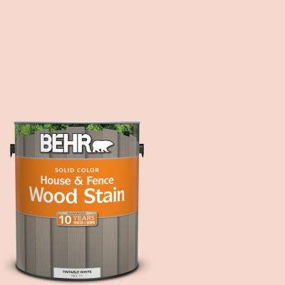 1 gal. #M190-1 Pink Sea Salt Solid House and Fence Exterior Wood Stain
