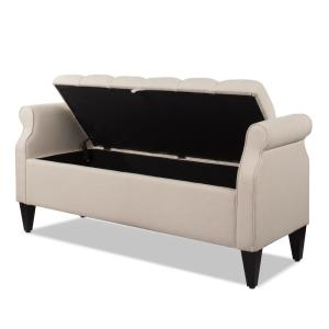 Incredible Jennifer Taylor Jacqueline Tufted Roll Arm Storage Bench Sky Gamerscity Chair Design For Home Gamerscityorg