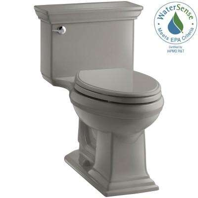 Memoris Stately 1-Piece 1.28 GPF Single Flush Elongated Toilet with AquaPiston Flush Technology in Cashmere