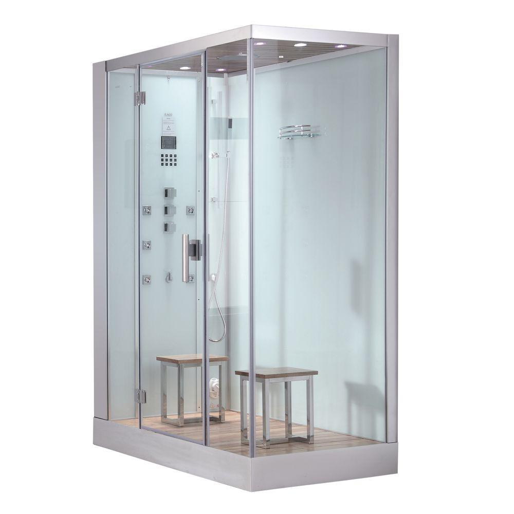 Ariel 59 in x 35 4 in x 89 2 in steam shower enclosure for Build steam shower
