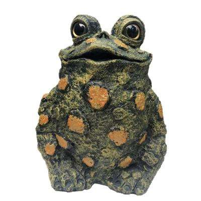 15.5 in. H Toad Hollow Extra-Large Tall Toad Whimsical Home and Garden Statue