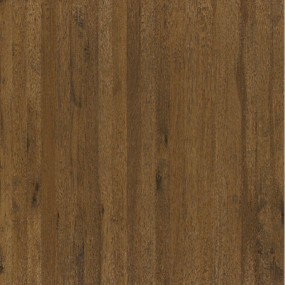 Shaw Hand Scraped Western Hickory Dark Sands Engineered Hardwood Flooring - 5 in. x 7 in. Take Home Sample