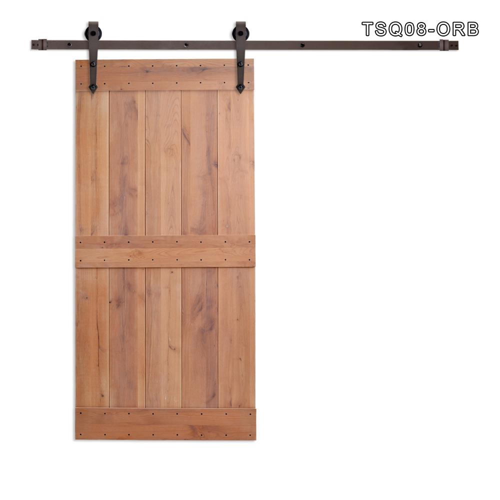 CALHOME 36 In. X 84 In. Vertical Slat 2 Panel Primed Natural Wood