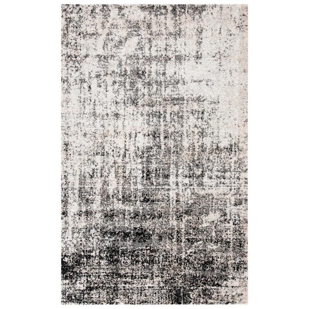 Adirondack Silver/Black 3 ft. x 5 ft. Area Rug