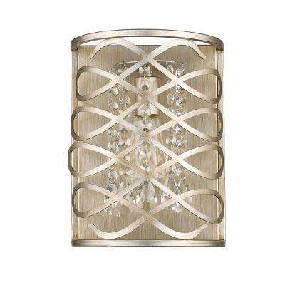 Brax 1-Light Washed Gold Sconce with Crystal Accents