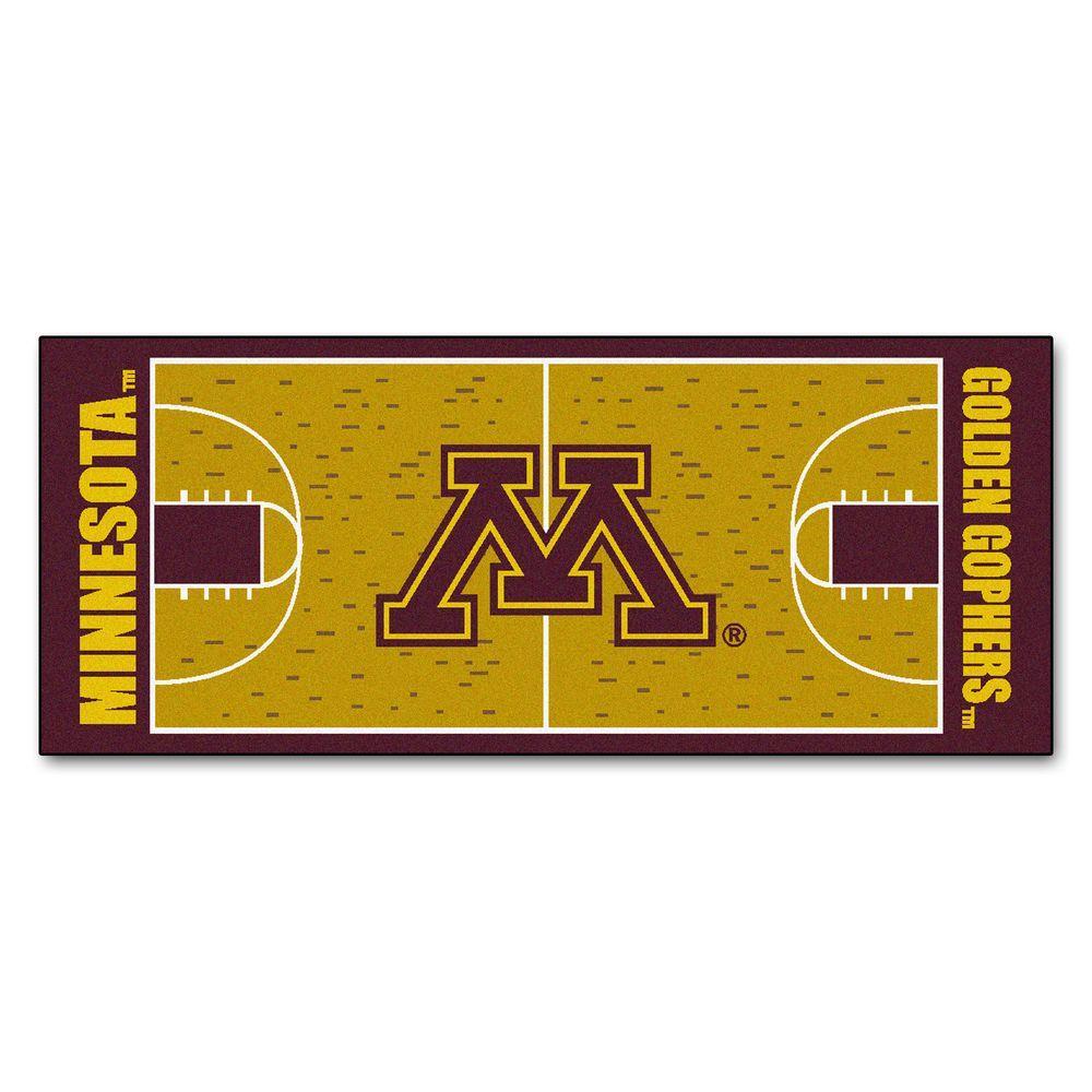 FANMATS University of Minnesota 2 ft. 6 in. x 6 ft. Basketball Court Rug Runner Rug