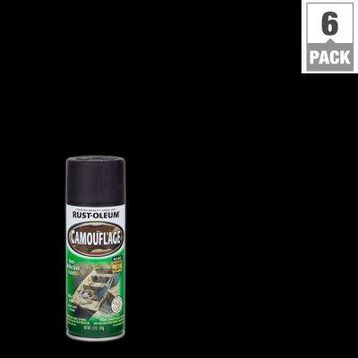 12 oz. Black Camouflage Spray Paint (6-Pack)