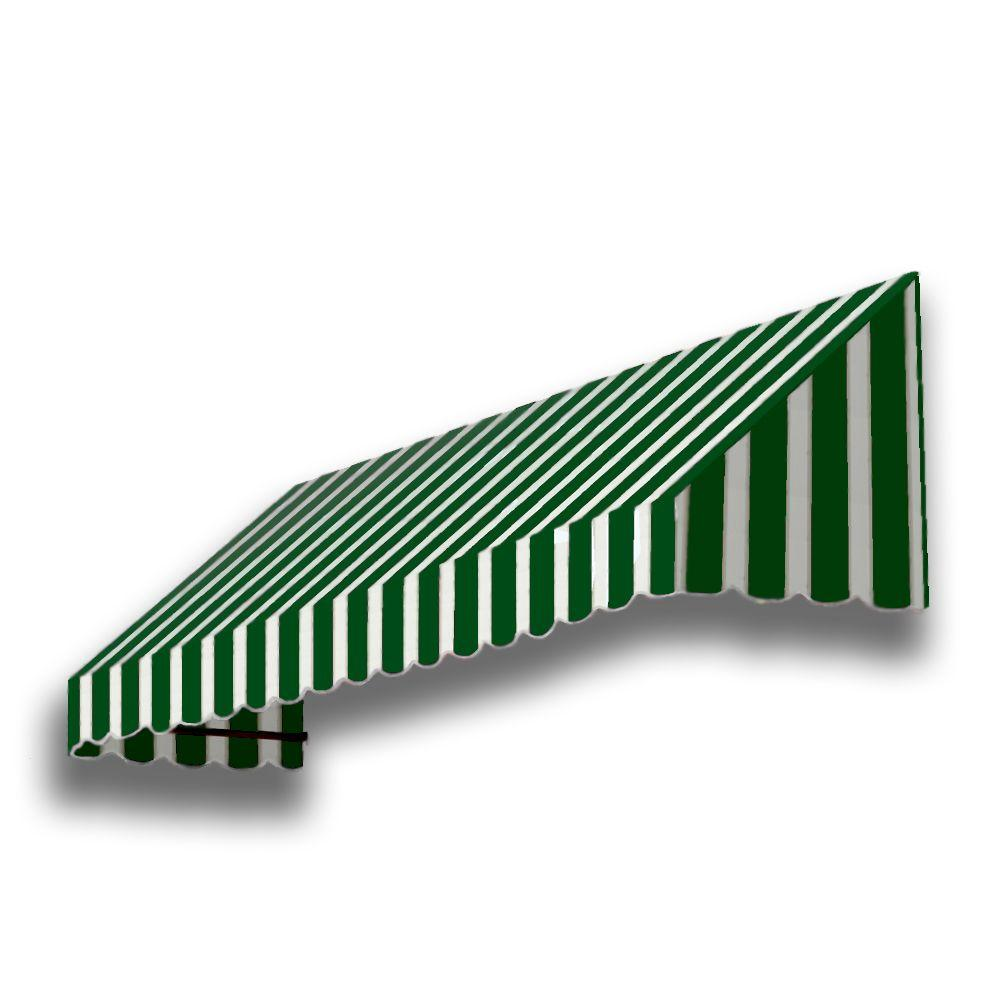 AWNTECH 40 ft. San Francisco Window/Entry Awning (44 in. H x 48 in. D) in Forest/White Stripe