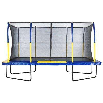 Easy Assemble Spacious 9 ft. x 15 ft. Rectangular Trampoline with Fiber Flex Enclosure Feature