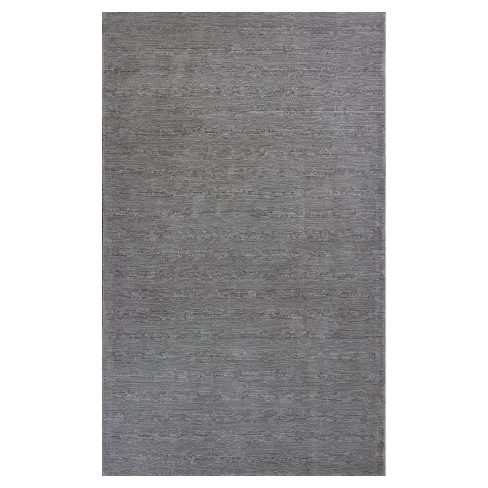 KAS Palace Silk Chrome (Grey) 8 ft. 6 in. x 11 ft. 6 in. ...