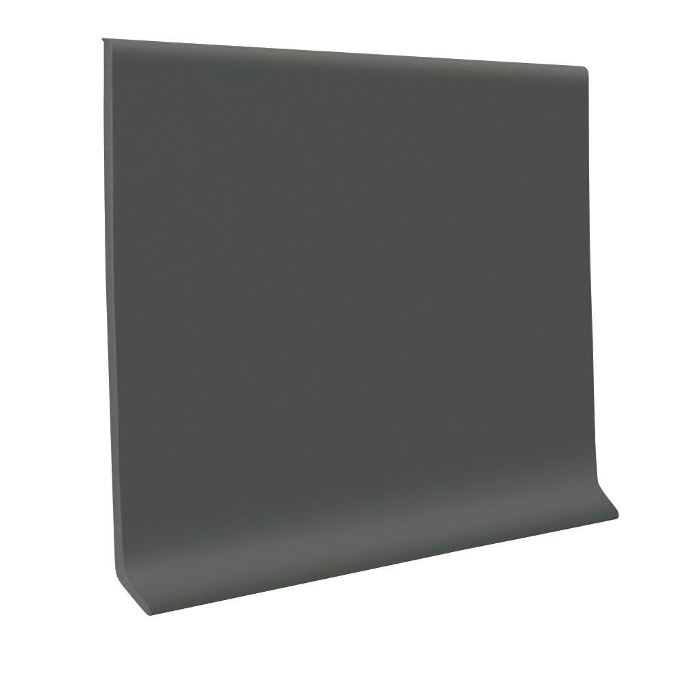 ROPPE Pinnacle Charcoal 2.5 in. x 120 ft. x 0.125 in. Rubber Wall Toeless Base