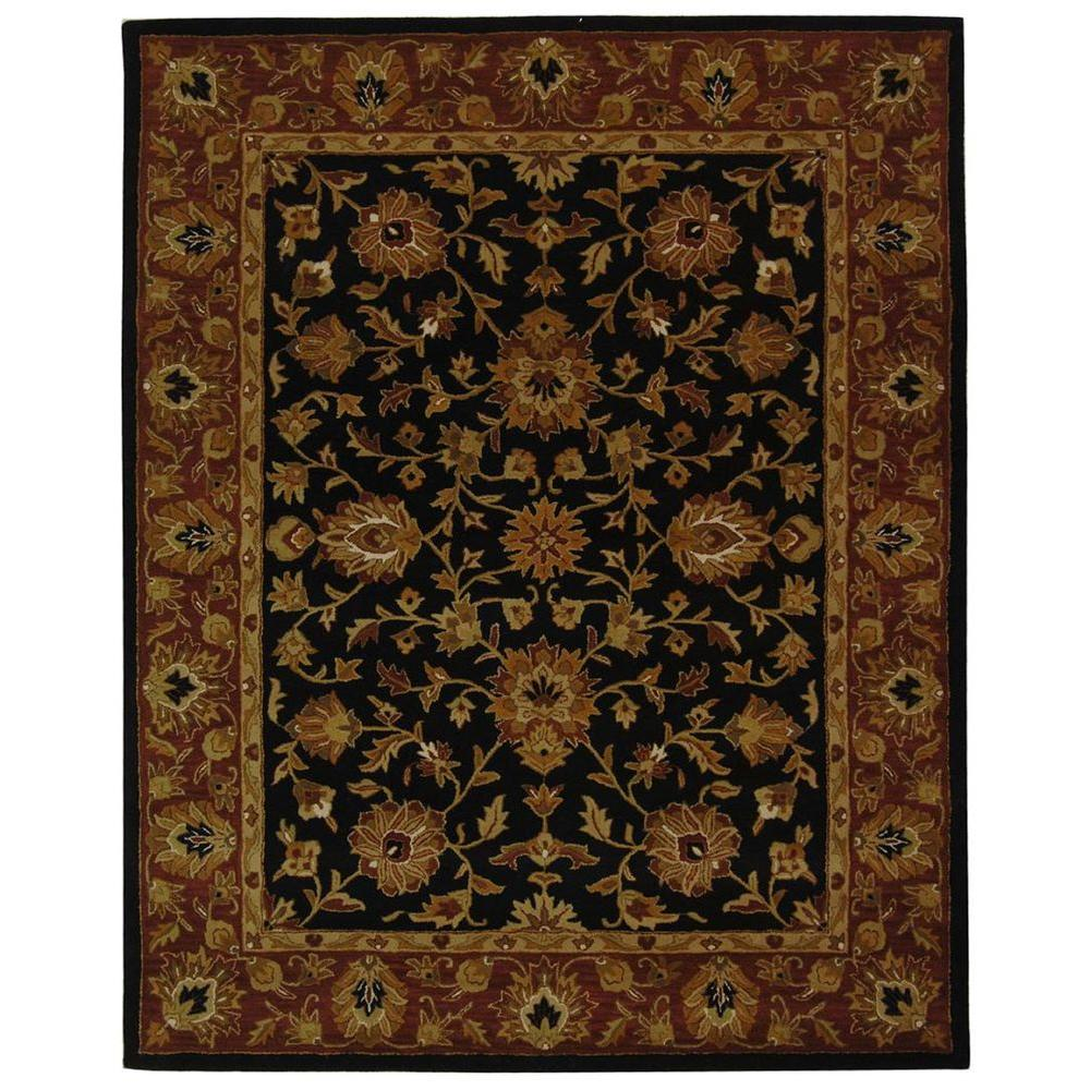 Safavieh Heritage Black Red 8 Ft 3 In X 11 Ft Area Rug