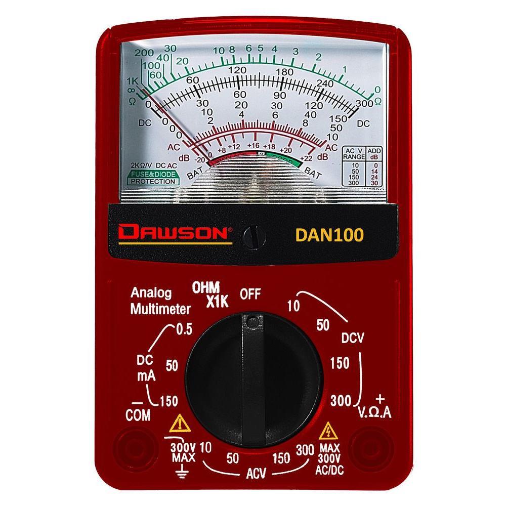 Dawson Compact Analog Multimeter-dan100