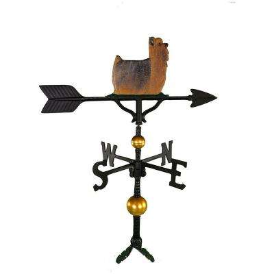 32 in. Deluxe Black Yorkshire Terrier Weathervane