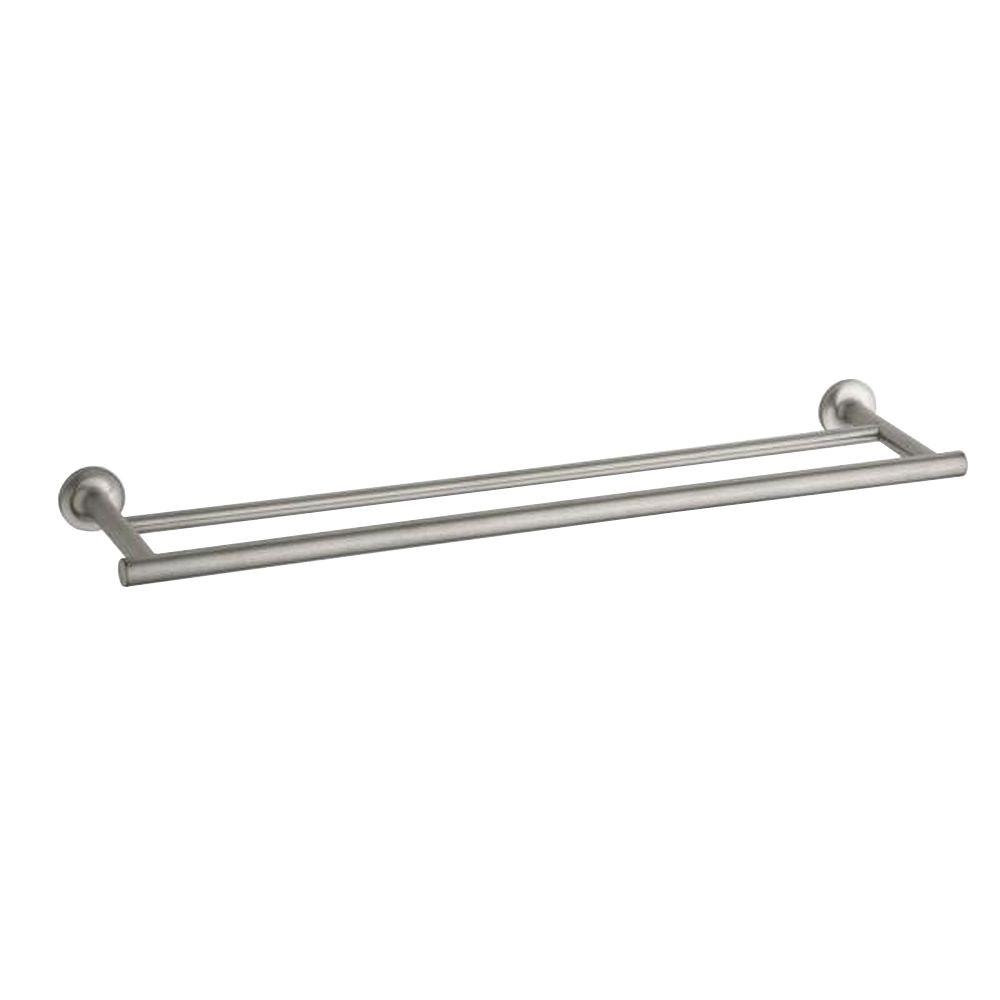 Kohler Purist 24 In Double Towel Bar In Vibrant Brushed Nickel K