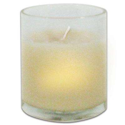 3 in. Clear Glass Votive with Wax (Set of 2)