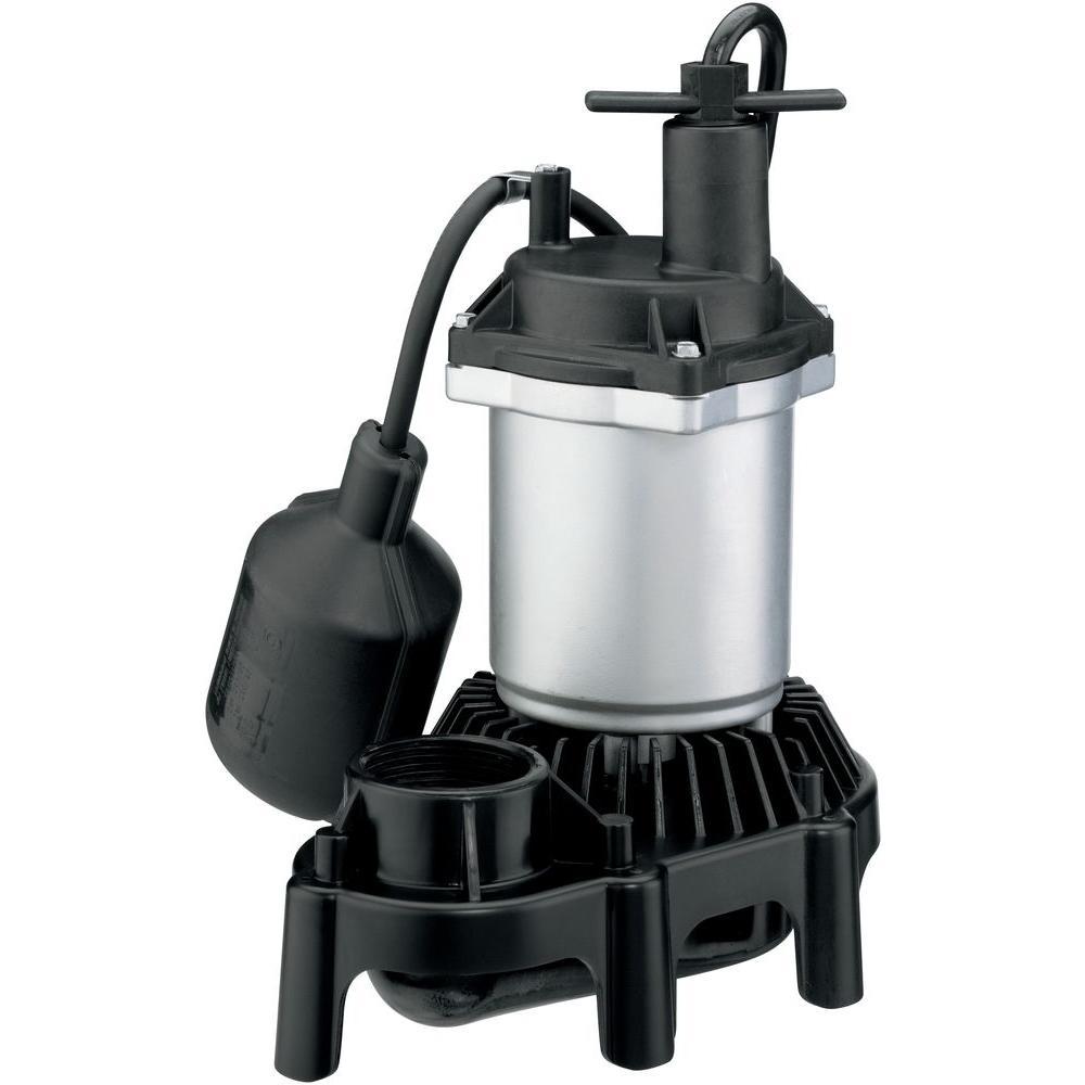 1/3 HP Zinc/Thermoplastic Tethered Sump Pump
