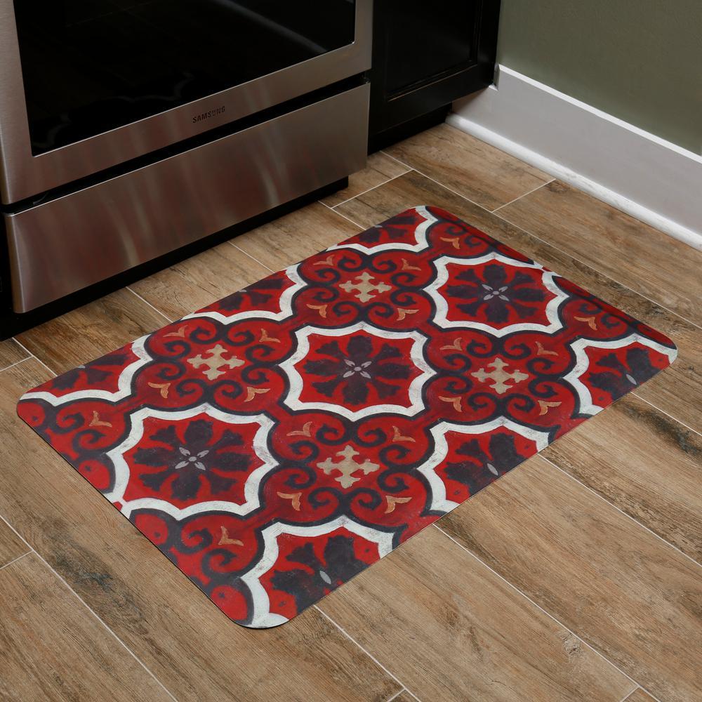 Home Dynamix Designer Chef Red Tiles 24