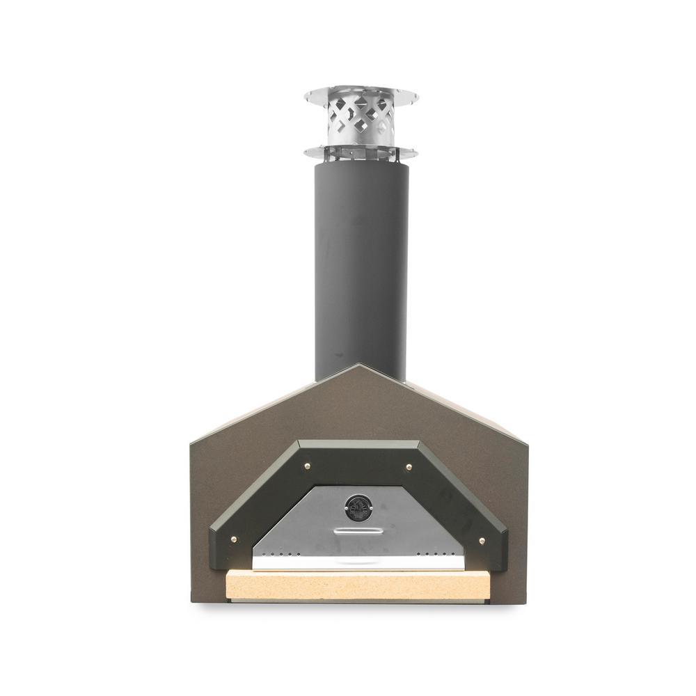 Americano 29-1/2 in. x 30 in. Counter Top Wood Burning Pizza Oven in Dark Roast