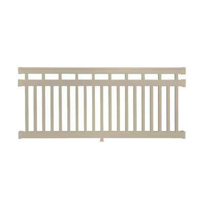 Hallandale 3.5 ft. H x 8 ft. W Vinyl Khaki Railing Kit
