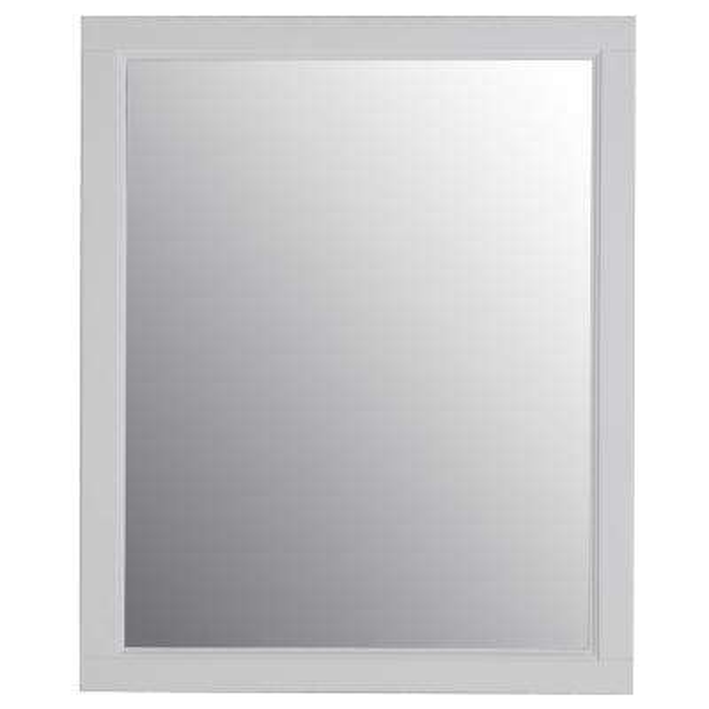 Ashland 25.67 in. x 31.38 in. Wood Framed Wall Mirror in White