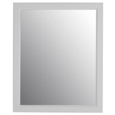 Ashland 31 in. W x 26 in. H Wood Framed Wall Mirror in White