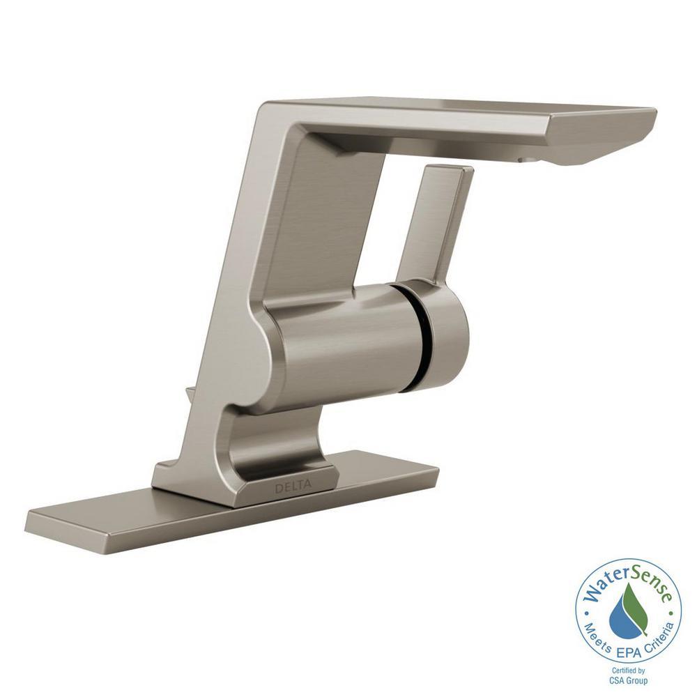 Delta Pivotal Single Hole Single-Handle Bathroom Faucet with Metal Drain... by Delta