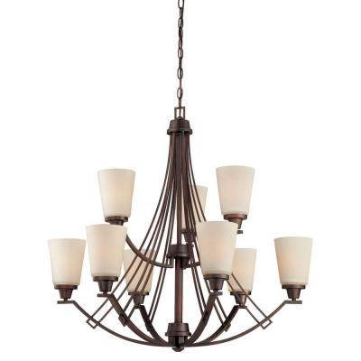 Wright 9-Light Espresso Chandelier