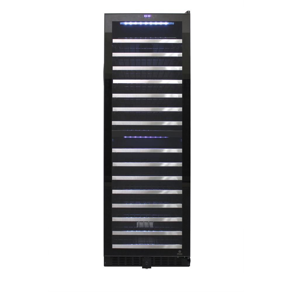 155 Bottle Dual-Zone Touch Screen Wine Cooler, CEC