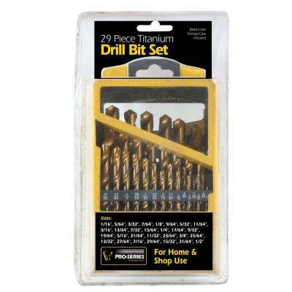Titanium Drill Bit Set (29-Piece)