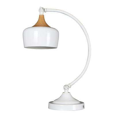 Urbania 1-Light White and Wood Table Lamp