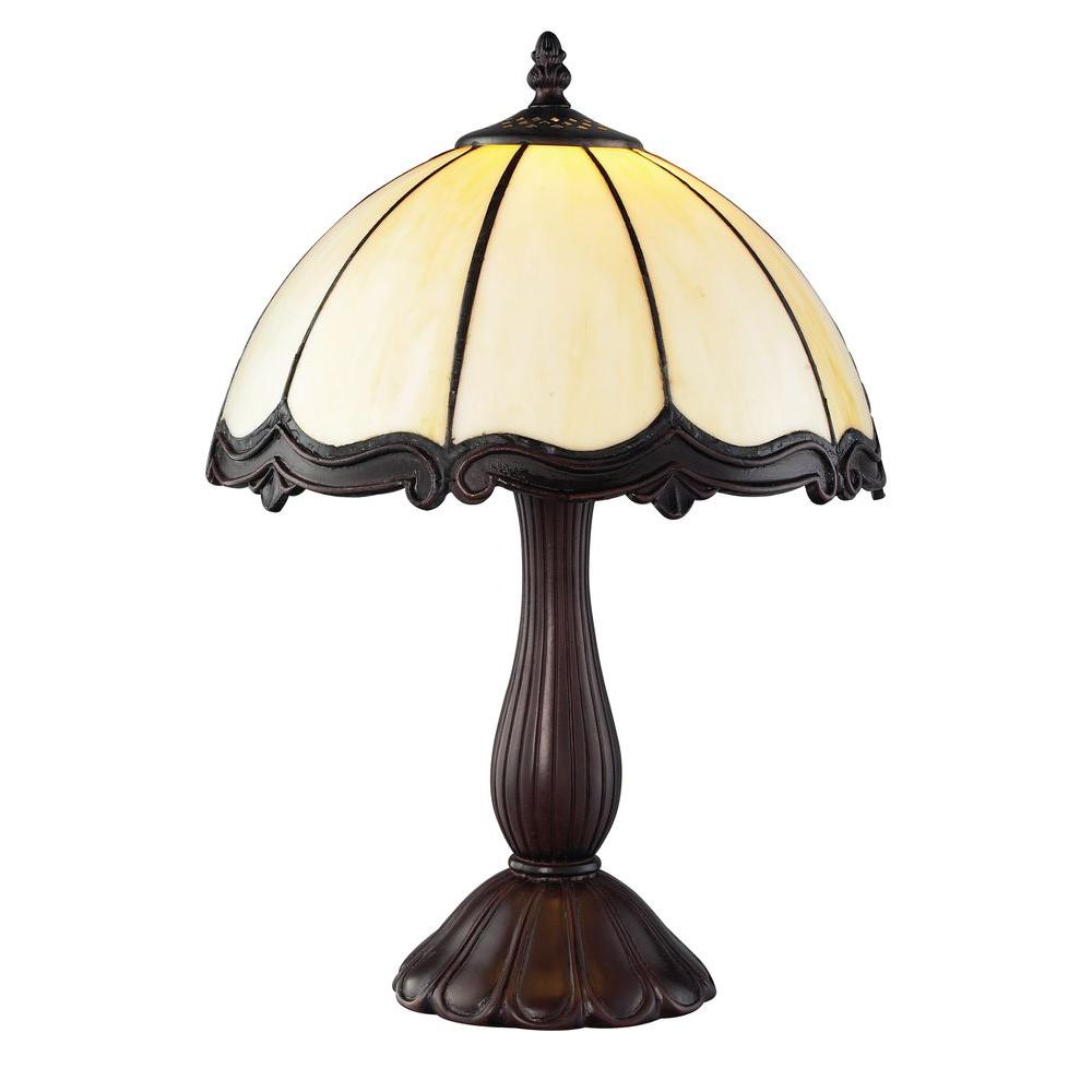 Tulen Lawrence 16 in. Chestnut Bronze Incandescent Floor Lamp-DISCONTINUED