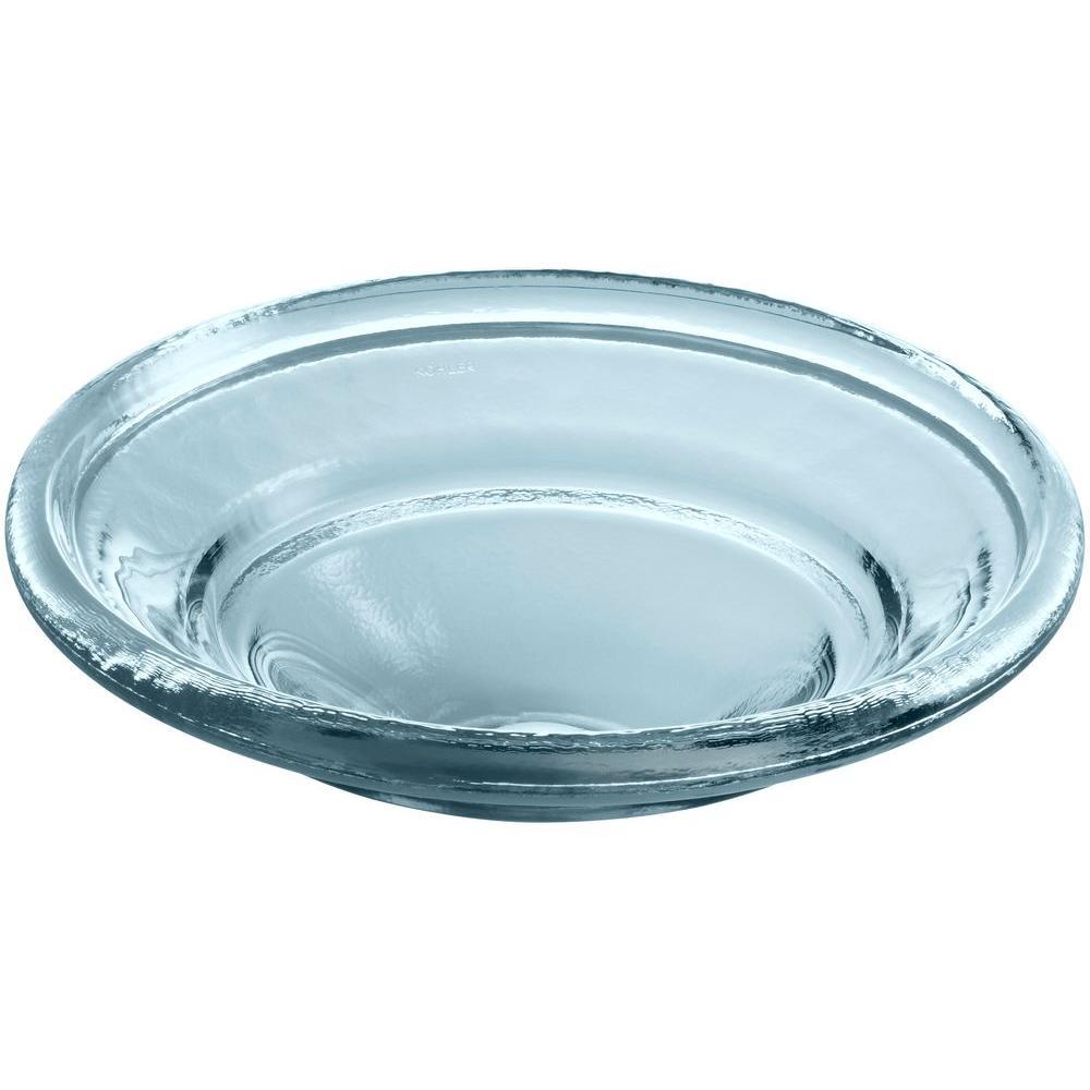 Spun Glass Vessel Sink in Translucent Dusk