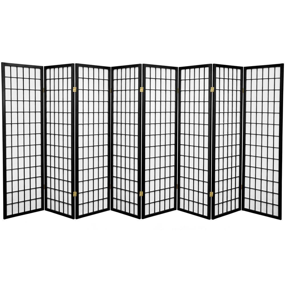 5 ft. Black 8-Panel Room Divider