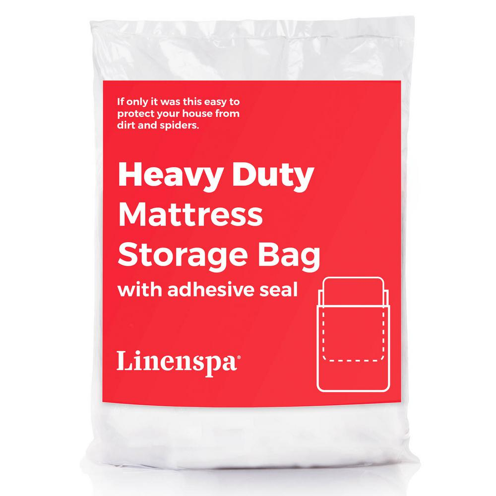 Linenspa King Size Extra Heavy Duty Sealable 6 Mil Mattress Bag