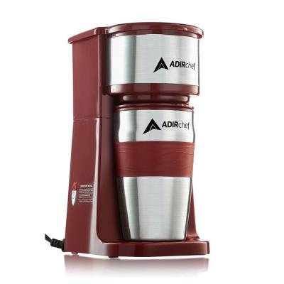 Grab'n Go Ruby Red Single Serve Coffee Maker with Stainless Steel Travel Mug